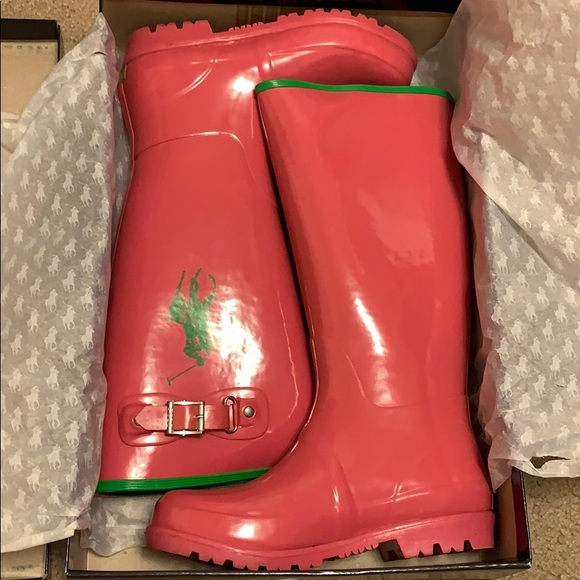 Polo by Ralph Lauren Other - Kids polo rain boot size 5